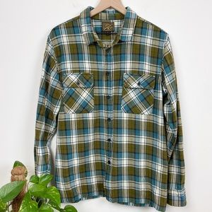 Dark Seas Loser Machine Co Flannel Shirt Sz L